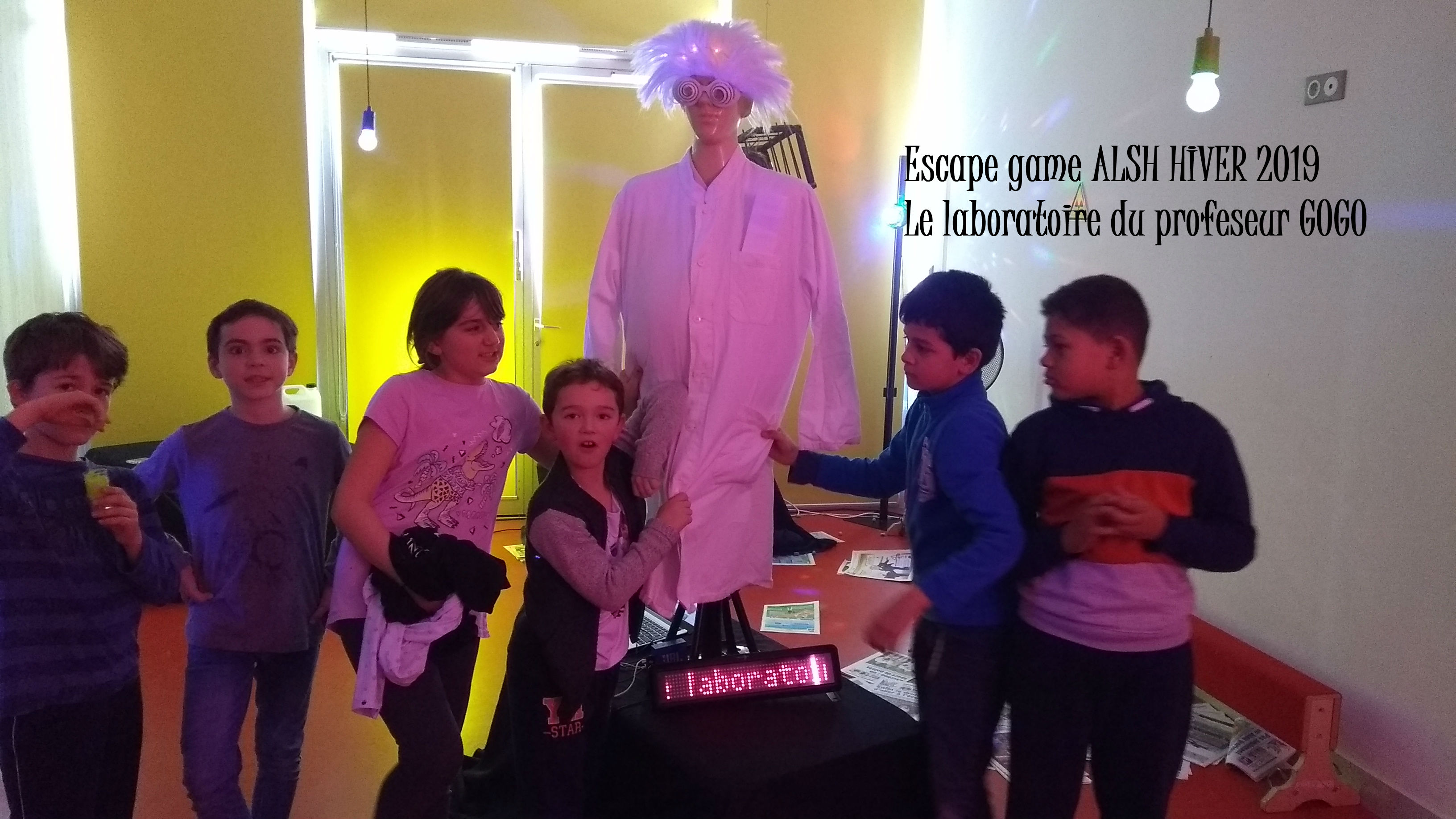 Escape game le laboratoire du professeur GOGO groupe 2
