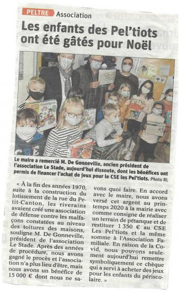 Article rl don du cheque