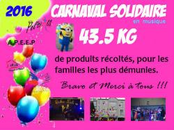 Carnaval solidaire edition 2016